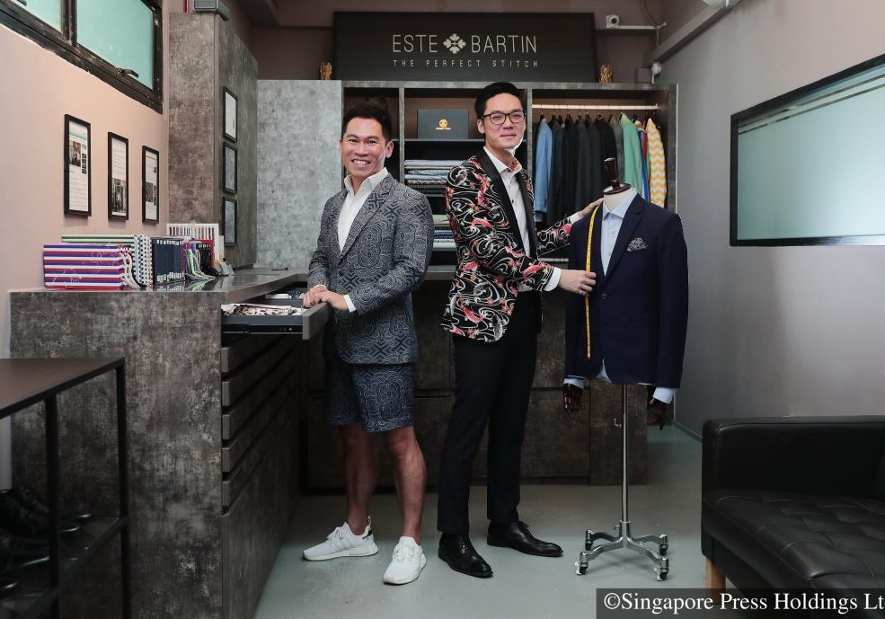 Story on buying bespoke on a budget.Este Bartin's co-founders Barry Lim and Justin LoyLocation	15 Braddell Tech, Toa Payoh Lorong 8 #04-09